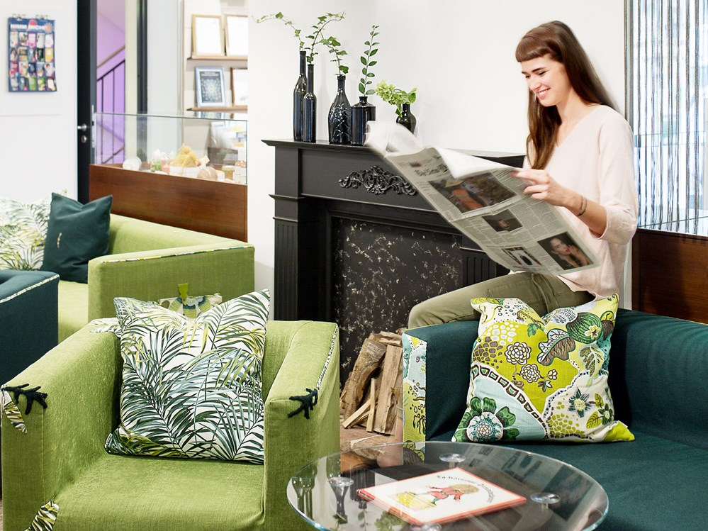 Biohotel: Hotellobby - Boutiquehotel Stadthalle